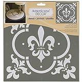 Deco Art Americana Decor Stencil, Fleur De Lis Tile
