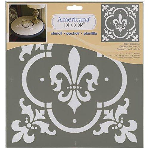 Deco Art Americana Decor Stencil, Fleur De Lis Tile ()