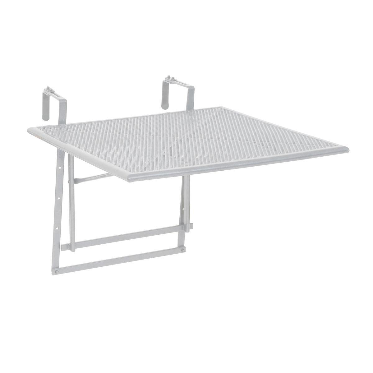 greemotion Toulouse Tavolino da Appendere alla Ringhiera del Balcone, Bianco, 60 x 58 x 40 cm 128569
