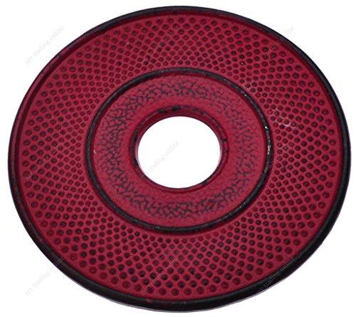 (M.V. Trading T7020RD Cast Iron Trivet Hobnail Design, 5½-Inch, Red)
