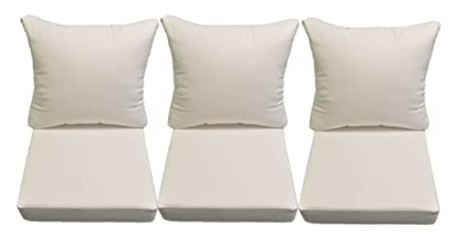 Superbe Sunbrella Canvas White Cushions For Patio Outdoor Deep Seating Furniture  Sofa/Couch   Choice Of