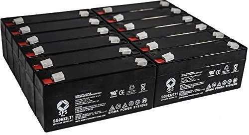 SPS Brand 6V 3.2Ah (Termina LT1) Replacement Battery fof McGaw 2001 INTELL Pump INFUSOR (1993 REV A2150 (12 Pack)