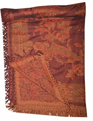 Vintage Designer Throw Bedspread Bedding Queen Size Pure WOOL Jamawar (Jamawar Bedspread)