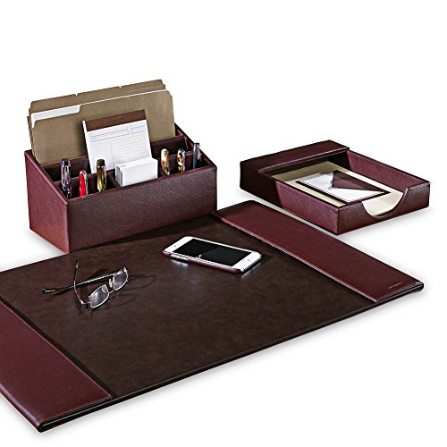Levenger Bomber Jacket Desk Set (Three Pieces) - Oxblood by Levenger