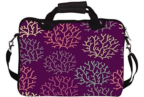 Snoogg Nahtlose Muster mit Blatt Nahtlose Beschaffenheit sind einsetzbar für Tapeten Gedruckt Notebook-Tasche mit Schultergurt 15 bis 15,6 Zoll