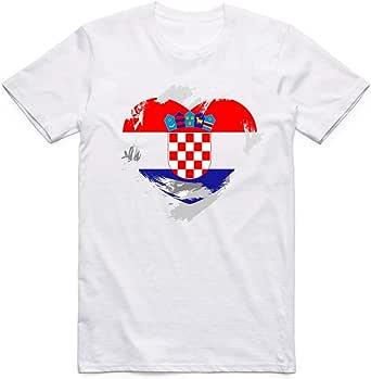 White Croatia Flag T-Shirt For Men