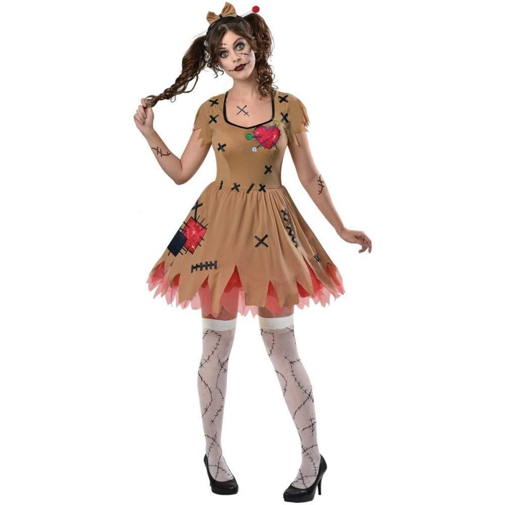 Zombie Bambola di pezza Adulti Da Donna Bambino Ragazze Make Up Halloween Costume