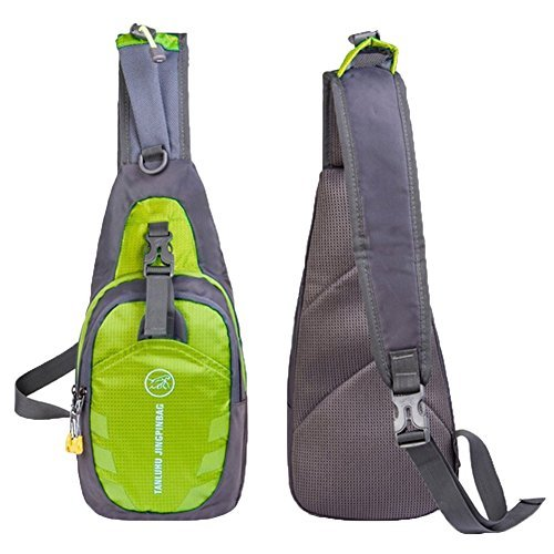 TANLUHU Shoulder Backpack Casual Cross Body Bag Outdoor Sling Bag Chest Pack with Adjustable Shoulder Strap for Cycling Hiking Camping Travel and Men Women(Green)