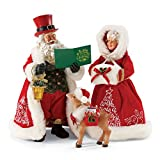 "Department 56 Possible Dreams Santa Claus ""A Merry Christmas 2017 LE"" Clothtique Christmas Figurine"