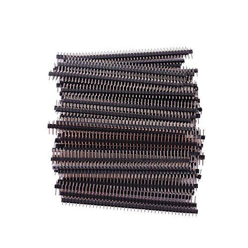 Teenitor Top Quality 100 Pcs Single Row 40Pin 2.54mm Male Pin Header (100 Header)