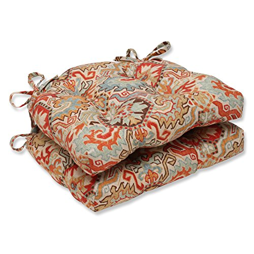 Pillow Perfect Madrid Persian Reversible Chair Pad (Set of 2) by Pillow Perfect