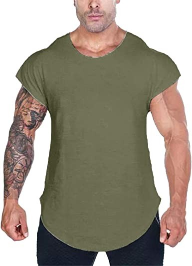 Uqiangy Mens Cotton Short Sleeve Casual Slim Summer Fashion Personality T Shirt Top Blouse
