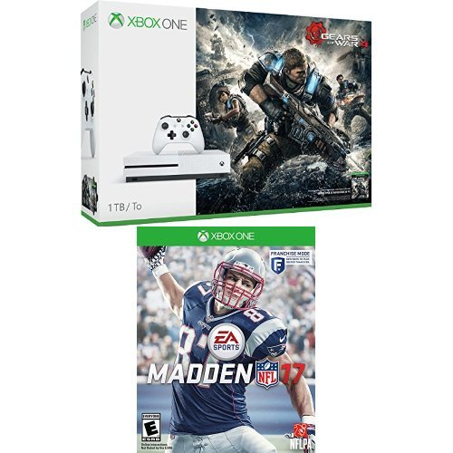 Xbox One S 1TB Console – Gears of War 4 Bundle + Madden 17 Standard Edition Game