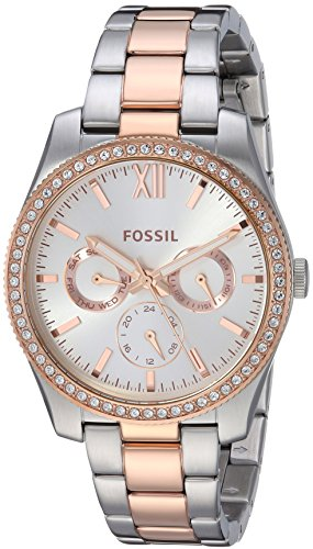 Fossil Women's 'Scarlette' Quartz Stainless Steel Casual Watch, Color:Rose Gold-Toned (Model: ES4373)