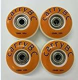 carryBC PU Skateboards Wheels,Skateboard Wheel Hardness SHR - 100A, Pure White 53mm x 31mm 4 PCS,608Z ABEC 7 Bearing 8 PCS,The Bearing casing 4 PCS