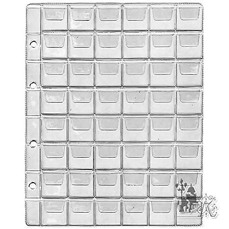 26/-/35/-/41/-/58/mm de di/ámetro Varios Tama/ños Glasklar Transparent para monedas 12 F/ächer monedas bis 58 mm /Ø Monedas Fundas Faro /álbum portamonedas hojas