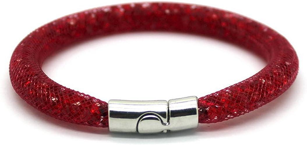 Bracelet cristal pour Femme genre stardust façon Swarovski en Rouge