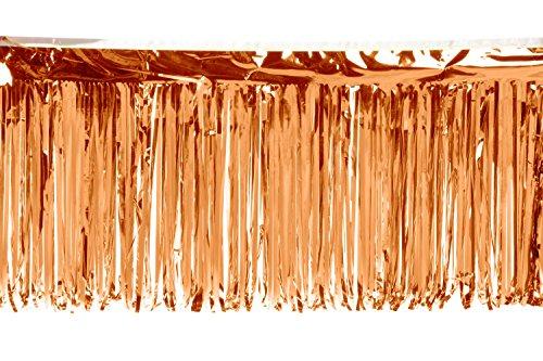 Metallic Orange Fringe - 15