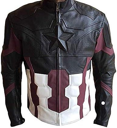 Classyak Mens Infinity Real Leather America Jacket