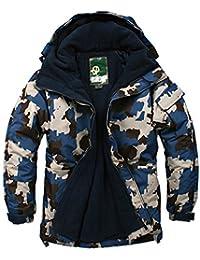 SOUTH PLAY Mens Premium Ski SnowBoard Wear Jacket Jumper CAMO BLUE