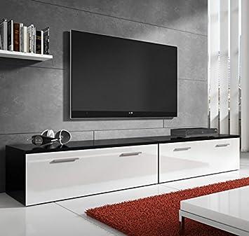 muebles bonitos mueble tv modelo arona en color blanco 2m - Muebles Bonitos