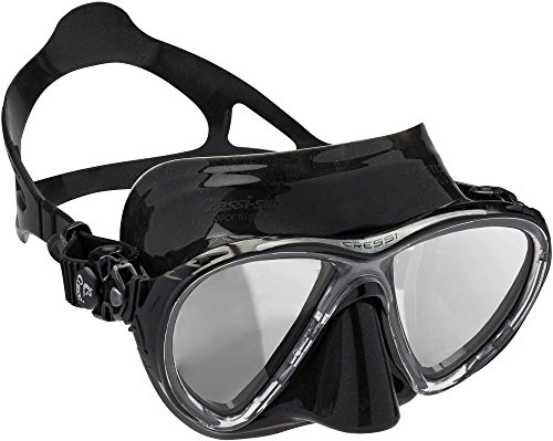Cressi DS336950 Scuba Diving Big Eyes Evolution Mask Black/HD Mirrored Lenses