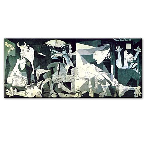 DIY Kit de Pintura Diamante 5D Taladro Completo Reproducciones de arte famoso de Picasso Guernica 40x80cm Large Diamond Painting Full Drill Bordado Punto de Cruz Adultos Arte Home Salon Decor de Pared