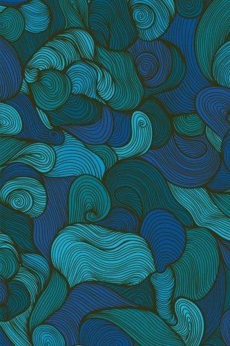 Sketchbook: Swirls (Blue) 6x9 - BLANK JOURNAL NO LINES - unlined, unruled pages (Spirals & Swirls Sketchbook Series)