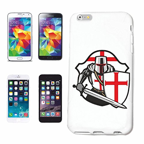 "cas de téléphone iPhone 7+ Plus ""LOGO KNIGHT AVEC SHIELD KNIGHTSWORD KNIGHT ARMOUR Ritterburg KNIGHT CASQUE SHIELD"" Hard Case Cover Téléphone Covers Smart Cover pour Apple iPhone en blanc"
