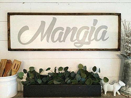 Mangia Sign Italian Sign Italian Kitchen Sign
