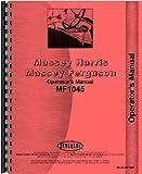 Massey Ferguson 1045 Tractor Operators Manual