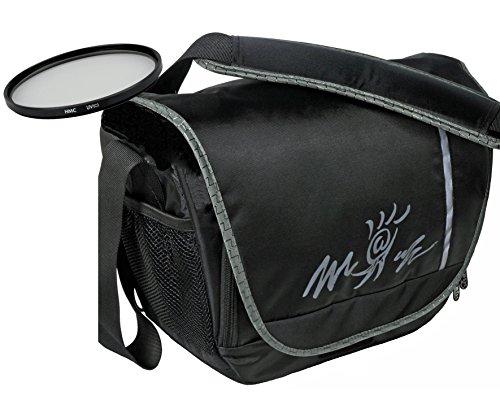 Foto Kamera Tasche Bag MIAMI + UV Filter 55mm für Sony Alpha 7 R II B mit Objektiv SEL 28-70mm KB
