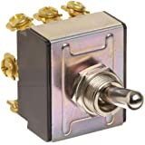 """Morris Products 70303 Toggle Switches, 3 Pole, On/Off/On, 1.09"""" Width, 1.31"""" Length, 0.80"""" Height"""