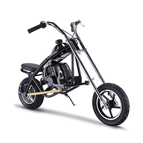Gas Scooter SAY YEAH Mini Dirt Pit Bike 2 Stroke Kids Mini Chopper,Powerful 49cc EPA Engine Motorized Bike for Boys and Girls,Non California Compliant,Black