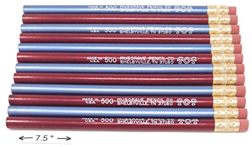 Jumbo TOT pencil, Round, 10mm Metallic Blue and Red, Med Soft Core (Package of 12) -
