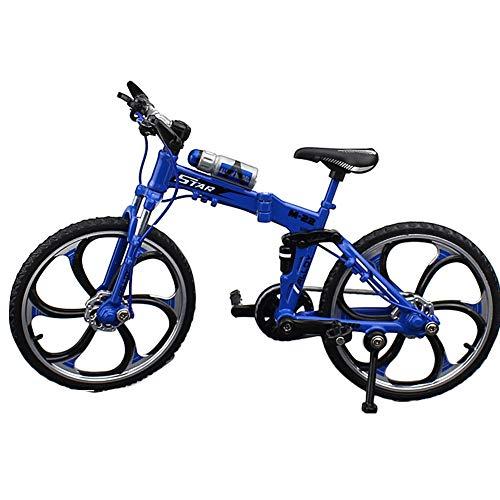 [해외]ller76 Kids Bicycle Model Home Foldable Mini Simulation Ornament Decor Gift Alloy Toys(Yellow) / ller76 Kids Bicycle Model Home Foldable Mini Simulation Ornament Decor Gift Alloy Toys(Yellow)