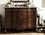 42' Baltic Brown Granite Counter top Beckham Bathroom Sink Vanity SW-3882SB-TK-42