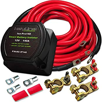 Magnificent Amazon Com 12V 140 Amp Dual Battery Isolator By Keyline Chargers Wiring 101 Mentrastrewellnesstrialsorg
