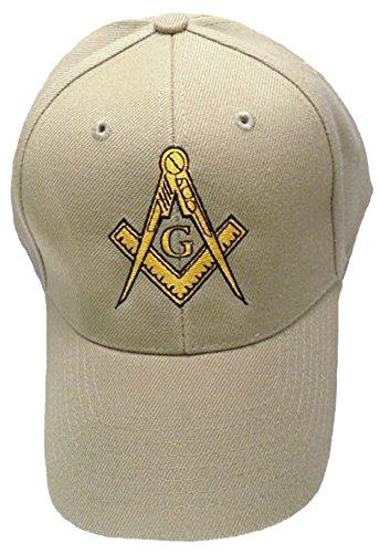 Buy Caps and Hats Masonic Baseball Cap Freemason Mason Hat Mens One Size Tan Masonic Baseball Cap