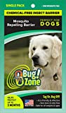 0Bug!Zone Dog Mosquito Barrier Tag, Single Pack