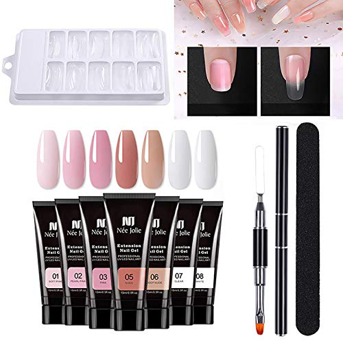 Nail Art,Extension Builder Gel Nail Kit UV Nail Art Gel Nail Tools 20ml (D)