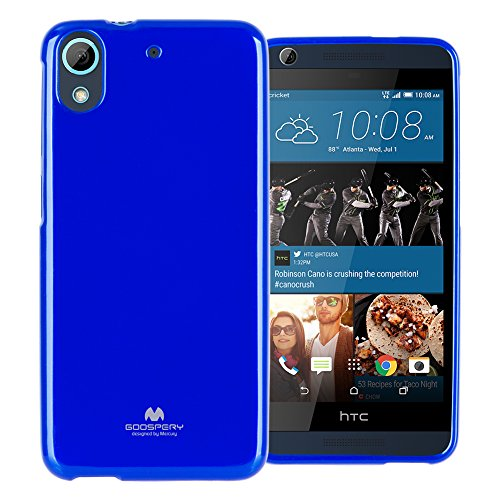 (GOOSPERY Marlang Marlang HTC Desire 626s Case - Navy Blue, Free Screen Protector [Slim Fit] TPU Case [Flexible] Pearl Jelly [Protection] Bumper Cover for HTC Desire626, HTCDS626-JEL/SP-NVY)