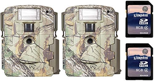 2 Moultrie Xenon Strobe White Flash D-80 Mini Trail Game Cameras SD Cards