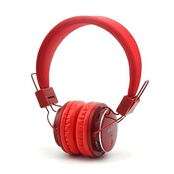 GranVela Q8 Auriculares Bluetooth De Diadema Plegables con Entrada Micro SD para Reproducir Música, Radio FM [11 Rojo