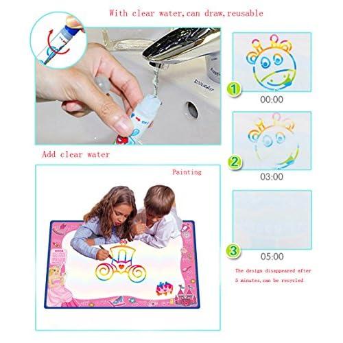 70cmx50cm Doodle Magic Tapis De Eau Dessins Arc En Ciel Tqp