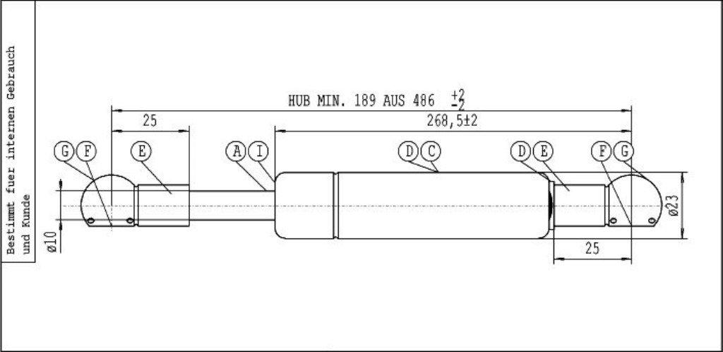 Stabilus-Resorte A Gas Lift-O-Mat negro