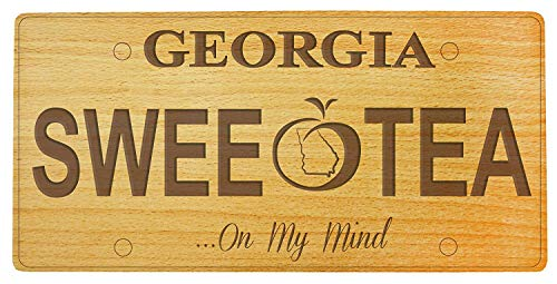 Specialove Eletina Car Decor Sign Beechwood Georgia Vanity License Plate Cheese Board