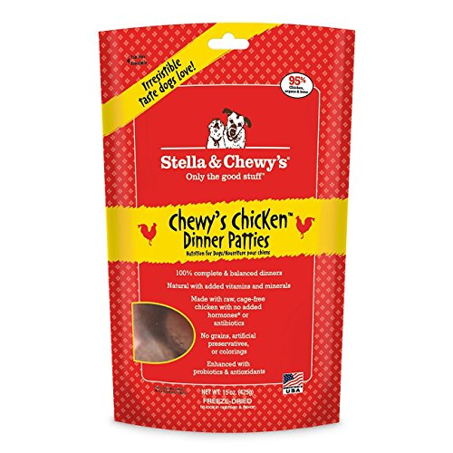 Stella & Chewy's Freeze Dried Dog Food,Snacks 15-ounce Bag With Hot Spot Pet Food Bowl - Made in USA (Chicken Flavor) Chewy Food