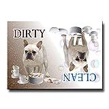 French Bulldog Clean Dirty Dishwasher Magnet No 1
