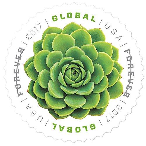 Global: Green Succulent USPS International Forever Stamps Sheet of 10 - (Star Trek Uniform 2017)